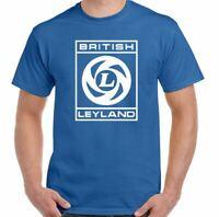 British Leyland T-Shirt Mens Retro Car Manufacturer Lorry Logo Mini Austin Rover
