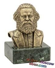 Bronze Brass Bust Karl Marx German Philosopher Socialist Revolutionary Kapital