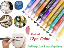 Acrylic Paint Pens For Wood,Glass,Stone,Wood, Fabric,Matal,Water Proof 12 Marker