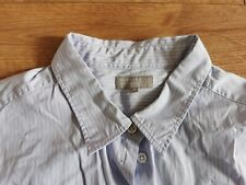 Margaret Howell Ladies Cotton Shirt In Size 16 Striped blue