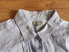 Margaret Howell Señoras Camisa De Algodón en tamaño 16 azul a rayas
