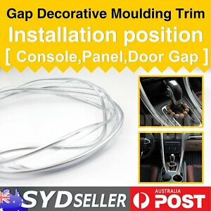 Chrome Silver Auto UTE Mouldings Gap Trim Interior Styling Dust Proof Strip 12M