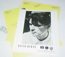 David Byrne Talking Vintage Press Photo w/paperwork Warner Bros Records New Wave