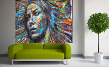 180cmx 120cm Painting   FACE GIRL Street art  large  Australia by pepe