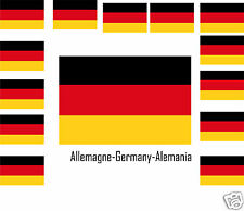Assortiment lot de10 autocollants Vinyle stickers drapeau Allemagne-Germany