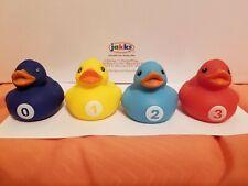 Billiard Rubber Ducks Number 0-3