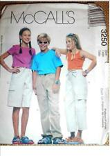 MCCALL'S BOYS GIRLS sewing pattern 3250 CARGO PANTS TROUSERS SHORTS 7 8 10 CH