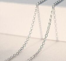 16 - 18 inches 925 Sterling Silver Belcher Oval Chain Necklace 41cm 46cm N53 54