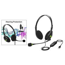 USB Headset Microphone Noise Cancelling Computer Headset for PC Chat Call Center
