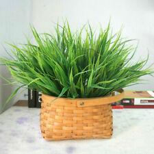 Artificial Green Grass Fake Plastic Decor Garden Home Office Flowers Plant OJ