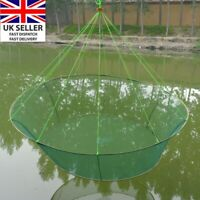 31'' Fish Fishing Trap Shrimp Crab Pot Net Survival Prawn Cage Lobster Round