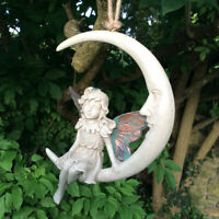 "Forest Fairy Dream Catcher Hanging Ball Sculpture Copper Wing Moon ""Faye"" Magic"