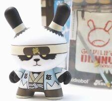 "Kidrobot Dunny 3"" Gold LIfe Series Huck Gee Ornery Panda Shinsengumi Samurai Art"
