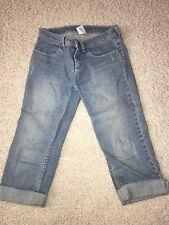 Gymboree Fairy Fashionable Distressed Capri Pants Jeans Size 10 floral belt
