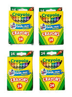 24 pack Crayola Crayons Lot of 4 Boxes NEW