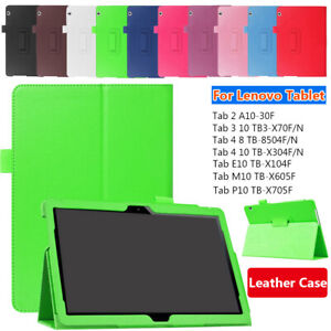 """Tablet Magnetic Smart Case Leather Cover For Lenovo Tab 3 4 E10 M10 P10 10.1"""""""