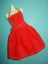 Vtg Barbie 60s Doll Clothes PAK APRON *Red* 1963