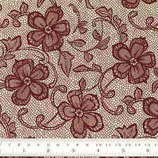 Cotton Fabric FQ Floral Lace Printed Vintage Retro Dress Quilting Patchwork VK92