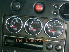 Pour Nissan Skyline R33 GTR Trim entoure CHROME anneaux pour auxiliaire Jauges 3pcs