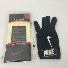 vintage nike batting glove Unisex  adult Left XL Black Pro III Glove