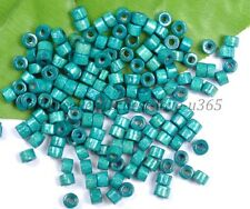 200pcs Turquoise  Bead Wood Tube Spacer Beads 4X3MM