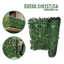 EDERA SINTETICA ARTIFICIALE 100x300 CM SIEPE ARELLA SUPPORTO RETE RECINZIONE