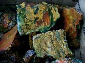 Wild KALEIDOSCOPE JASPER … 21 LB lot of impressive rough … Oregon … READ >>>