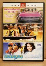 HEARTBREAK HOTEL, INDIAN SUMMER,  ASPEN EXTREME, 2-DISC DVD, TRIPLE FEATURE