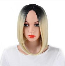 Bride of Chucky cosplay Wig Dark Root with Golden Blonde Short Bob Halloween wig