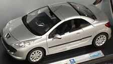 PEUGEOT 207 CC CABRIOLET GRISE WELLY 1/18 GREY COUPE DECOUVRABLE 1:18 SILVER
