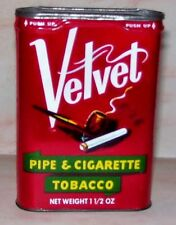 "Velvet Pipe & Cigarette Tobacco Tin Excellent Pinkerton Co Owensboro KY ""NICE"""