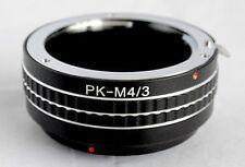 Pentax K PK Mount Lens to Micro 4/3 M4/3 M43 Mount Adapter GX1 EP3 OM-D PK-M43