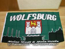 Fahnen Flagge Wolfsburg meine Stadt mein Verein Fan - 90 x 150 cm