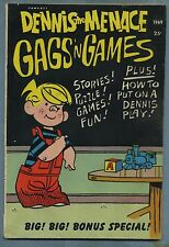 Dennis the Menace Gags 'n Games #66 1969 Giants Hank Ketcham Fawcett s