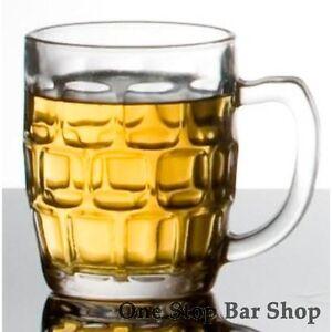 Dimple Handled Beer Glass 285ml X6 - Certified Capacity