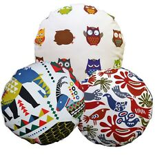 Flat Round Shape Cover*A-Grade Cotton Canvas Floor Seat Chair Cushion Case*LL7