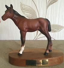 BESWICK HORSE FOAL ADVENTURE ON PLINTH MODEL No 2876 BROWN MATT VGC