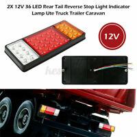 2X 36 LED Tail Light Car Truck Trailer Stop Rear Reverse Turn Indicator Lamp