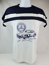 True Vintage Mercedes Benz 1955 300SL racing T Shirt Blue & white Women's Small
