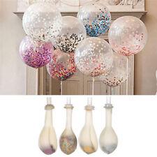 "Lots 20pcs 12"" Giant Confetti Clear Balloon Round Birthday Wedding Party Decor"