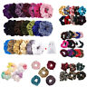1-100pcs Hair Scrunchies Velvet Scrunchy Bobbles Elastic Hair Bands Holder Lot