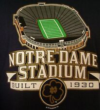 Notre Dame Football Stadium T-Shirt New Majestic Large Medium Fighting Irish