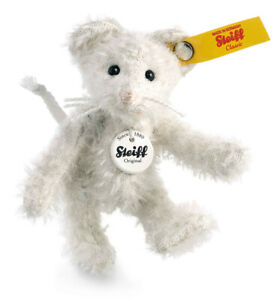 Steiff Mouse Ted - jointed white mohair collectable - 8cm - 001086