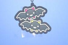 The Gothic World of Nyanpire Bat Komori Kun & Mouri Kun Yellow&Pink Rubber Strap