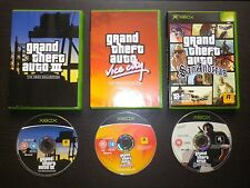 LOT 3 JEUX XBOX : GRAND THEFT AUTO GTA III + VICE CITY + SAN ANDREAS