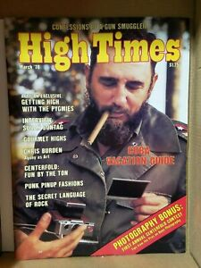 HIGH TIMES CUBA VACATION VINTAGE MAR 1978 MARIJUANA MAGAZINE NOS WEED 420 N/M