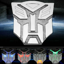 New Solar LED Flash Light Transformers 3D Autobot Car Emblem Badge Decal Sticker