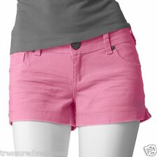 Vanilla Star Colored Denim Low Rise Shorts ~ Size 9 ~ Pink ~ NWT