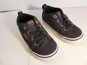 Vans Off The Wall Toddler Kids Gray Skater Slip On Sneaker Shoes Size 7 721454