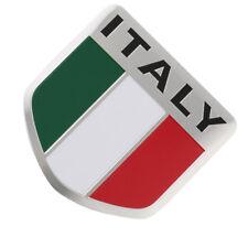 Aluminum 3D Metal ITALY Italian Flag Sticker Emblem Badge Decal Car Decorate MK1
